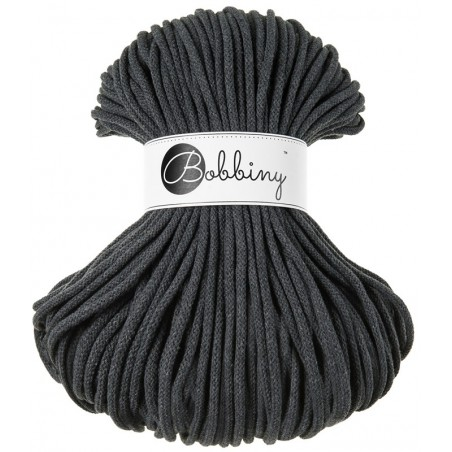 Szary sznurek bawełniany 5mm 100m Bobbiny