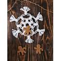 Macrame snowflake - free pattern