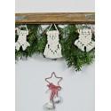 Christmas mini macrame - free pattern