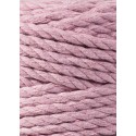 Dusty Pink 3ply macrame cotton rope 5mm 100m Bobbiny