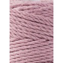 Dusty Pink 3ply macrame cotton rope 3mm 100m Bobbiny