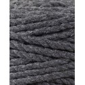 Charcoal 3ply macrame cotton rope 5mm 100m Bobbiny