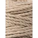 Sand 3ply macrame cotton rope 5mm 100m Bobbiny