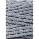 Steel 3ply macrame cotton rope 5mm 100m Bobbiny
