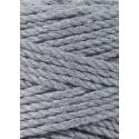 Steel 3ply macrame cotton rope 3mm 100m Bobbiny