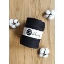 Black 3ply macrame cotton rope 5mm 100m Bobbiny