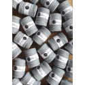 Silver 3ply macrame cotton rope 5mm 100m Bobbiny