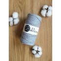 Silver 3ply macrame cotton rope 3mm 100m Bobbiny