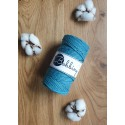 Teal 3ply macrame cotton rope 3mm 100m Bobbiny