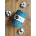 Teal 3ply macrame cotton rope 5mm 100m Bobbiny