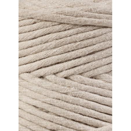 Beige macrame cotton cord 3mm 100m Bobbiny