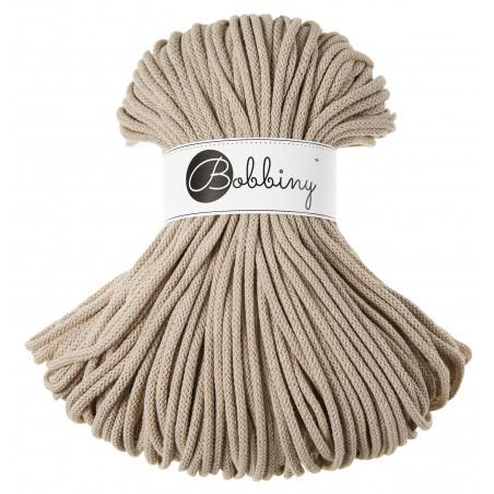Beige macrame cotton cord 5mm 100m Bobbiny