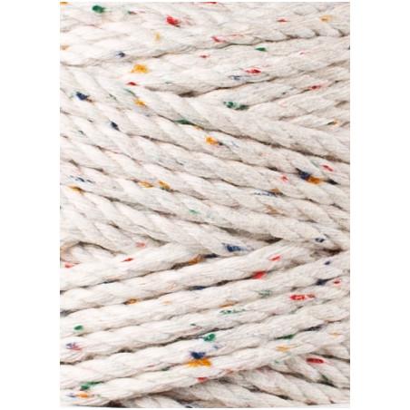 Rainbow Dust 3ply macrame cotton rope 3mm 100m Bobbiny