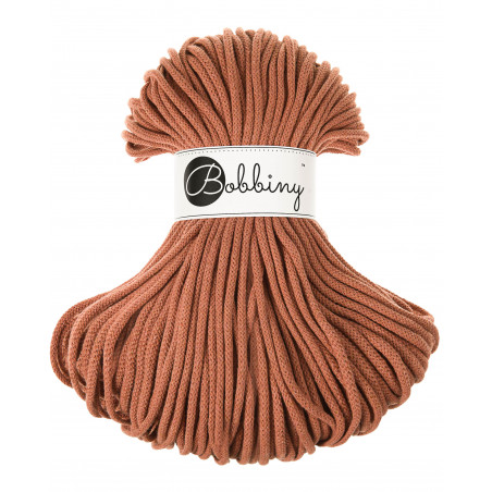 Terracotta cotton cord 5mm 100m Bobbiny