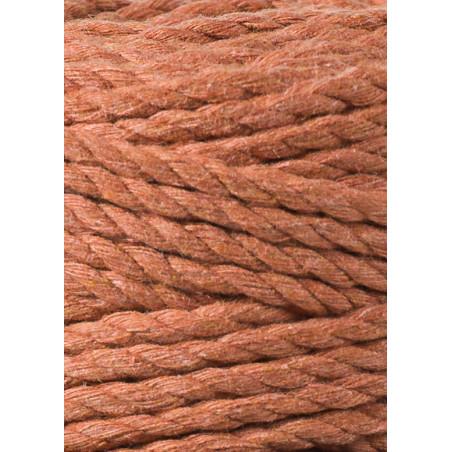 Terracotta 3ply macrame cotton rope 5mm 100m Bobbiny