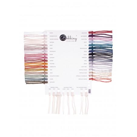 Karta kolorystyczna sznurków