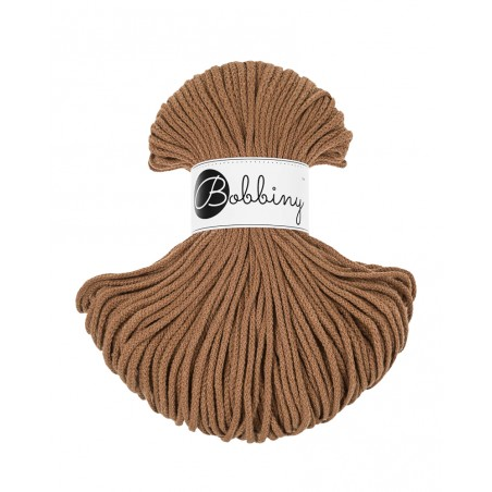 Caramel braided cord 3mm 100m Bobbiny