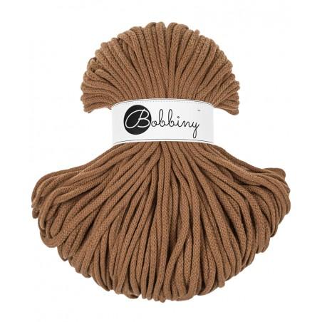Caramel braided cord 5mm 100m Bobbiny