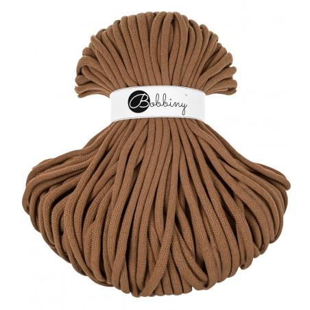 Caramel braided cord 9mm 100m Bobbiny
