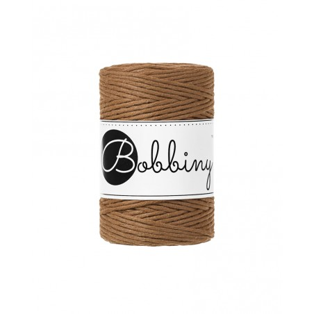 Caramel macrame cotton cord 1.5mm 100m Bobbiny