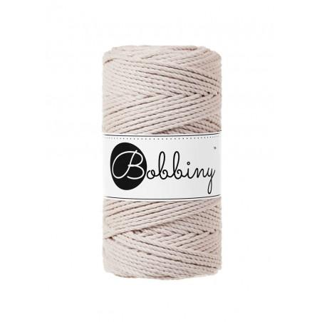 Nude 3ply macrame cotton rope 3mm 100m Bobbiny