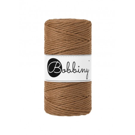 Caramel macrame cotton cord 3mm 100m Bobbiny
