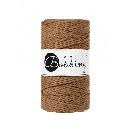 Caramel 3ply macrame cotton rope 3mm 100m Bobbiny