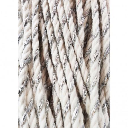 Silver Twist 3mm 3PLY Macrame Rope- 50m Bobbiny