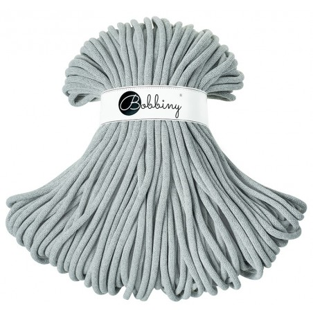 Grey macrame cotton cord 9mm 100m Bobbiny