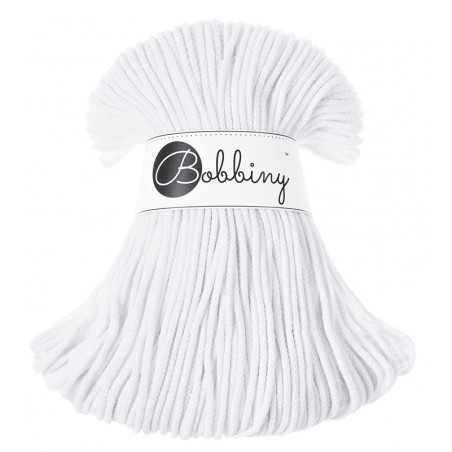 White macrame cotton cord 3mm Bobbiny