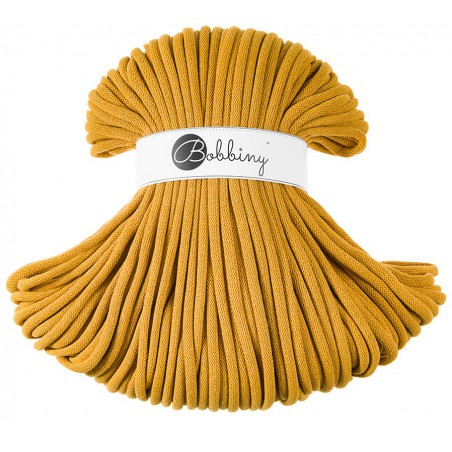 Mustard macrame cotton cord 9mm 100m Bobbiny