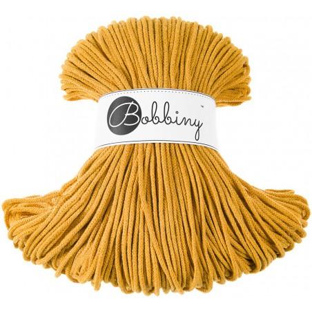 Musztardowy sznurek bawełniany 3mm 100m Bobbiny